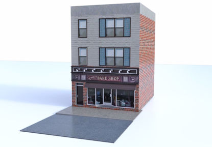 Picture of Bake Shop Building and Street Environment Poser Format