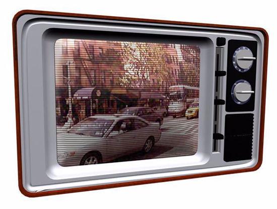 1970's Television Set Model Poser Format