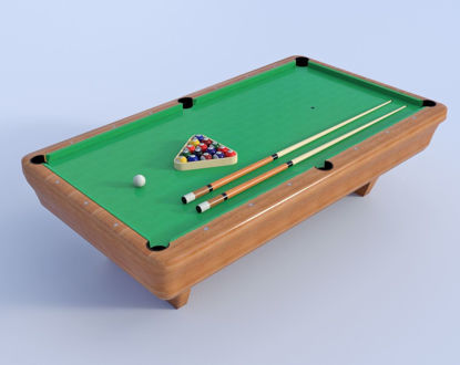 Picture of Billiard Table Model Poser Format