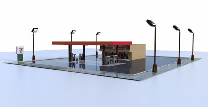 Picture of Convenience Store and Parking Lot Environment FBX Format