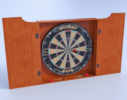 Picture of Dart Board and Darts Model Set Poser Format