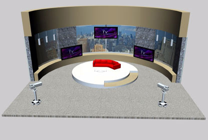 Picture of Daytime TV Talk Show Set Environment FBX Format