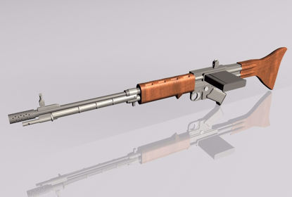 Picture of FG-42 Rifle Weapon Model FBX Format