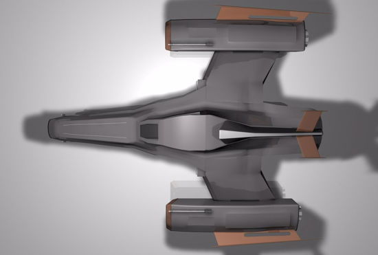 Picture of Futura Fighter Sci-Fi Aircraft Model Poser Format