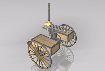 Picture of Gatling Gun Weapon Model FBX Format