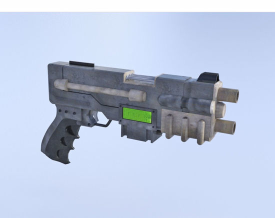 Picture of Sci-Fi Blaster Pistol Poser Format