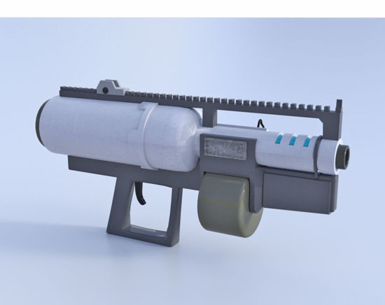 Picture of Sci-Fi Heavy Assault Weapon Model  Poser Format