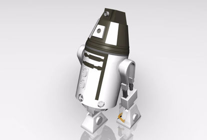 Picture of Sci-Fi Personal Droid Model with Movements Poser Format