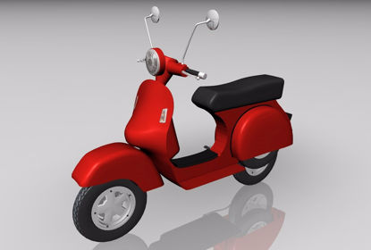 Picture of Vespa Motor Scooter Model FBX Format