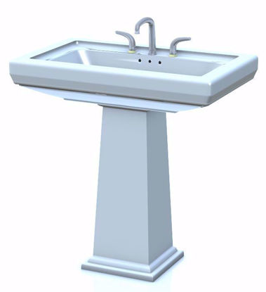 Picture of Pedestal Sink Model Poser Format