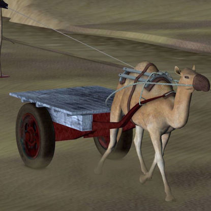 Picture of Camel Cart Model Poser Format