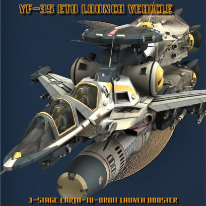 Picture of YF-35 Warthog ETO Booster Set (Figure Add-On for Poser)